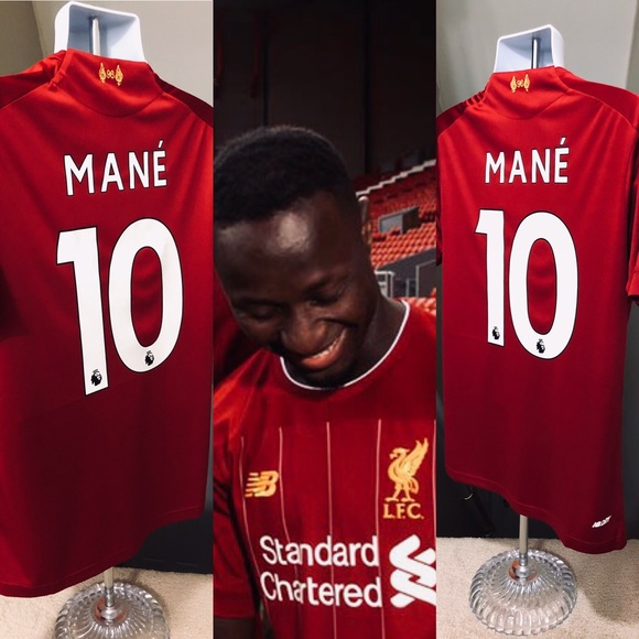 bbbe79563 New 2019 Home Liverpool Mané  10 Soccer Jersey